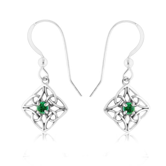 HOT HOT HOT 82% OFF Emerald & Sterling Silver Celtic Knot