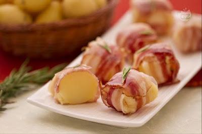 Cartofiori in manta de bacon