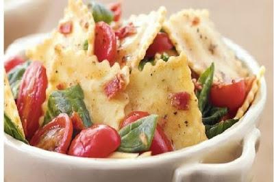 Ravioli cu vinete si mozzarella