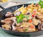 Veal Escalope with mushrooms