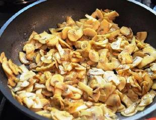 Pancakes with mushrooms (1)