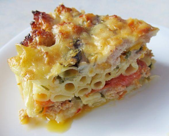 Baked pasta Neapolitan style