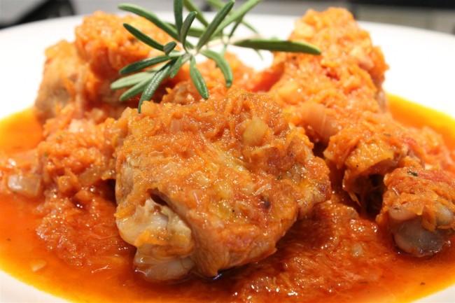 Friptura de pui cu morcovi