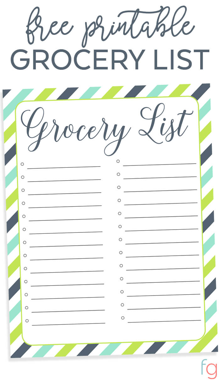 printable grocery list template printable grocery list free grocery list printable free organization