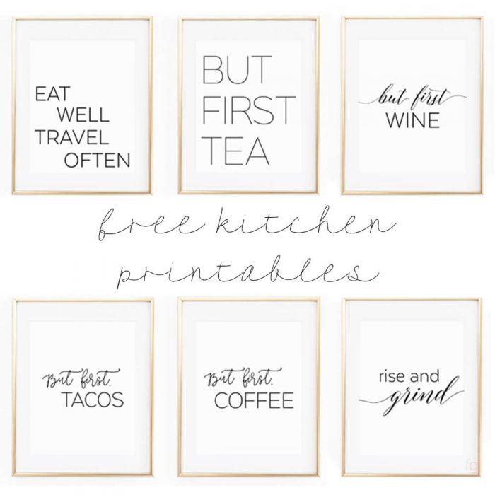 kitchen wall art decor free standing pantries 8x10 set of six prints printable gallery printables apartment ideas