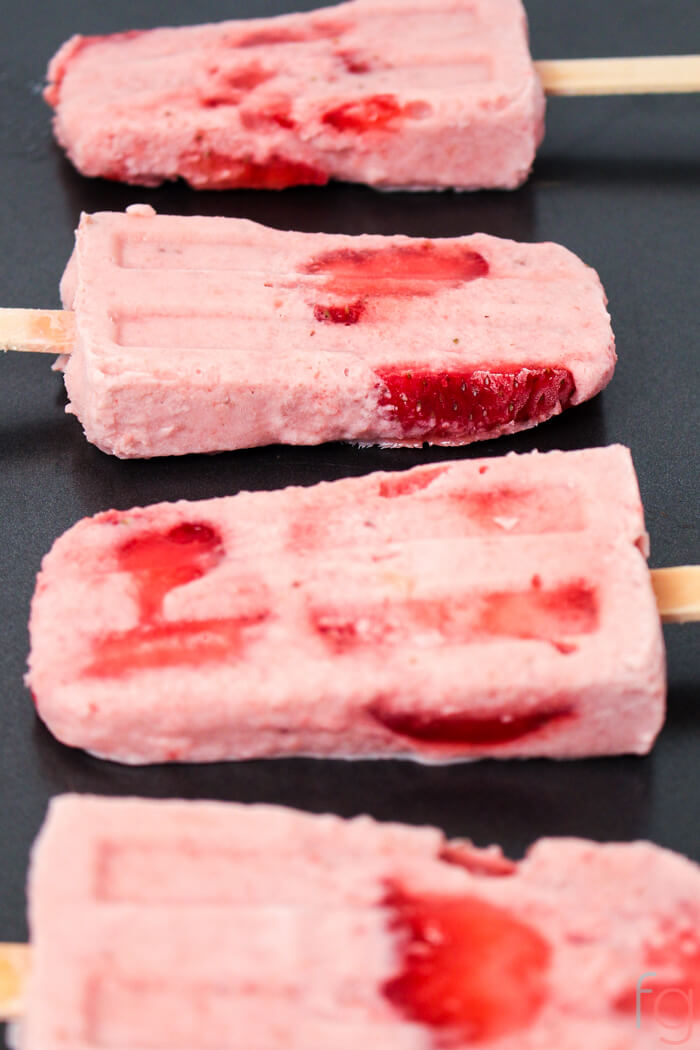 Strawberry Banana Smoothie Popsicles