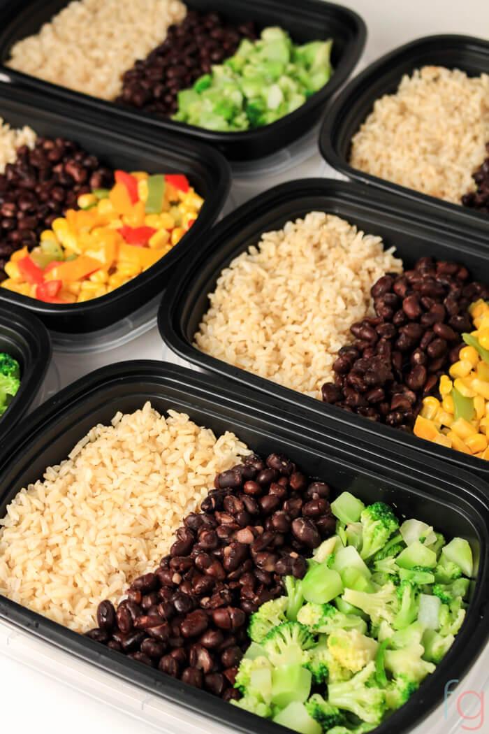 Genoeg Easy Vegetarian Meal Prep - 30 Minute Vegan Meal Prep #IG74