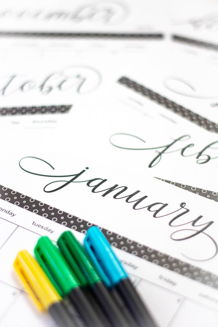 2019 free printable calendar and template savor savvy