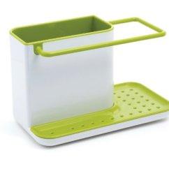 Kitchen Soap Caddy Cabinet Sets Joseph Sink And Sponge Holder White