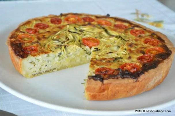 tarta cu branza si legume