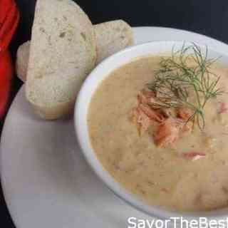 Wild Alaskan Smoked Salmon Chowder
