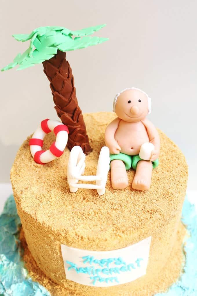 lazy day beach cake