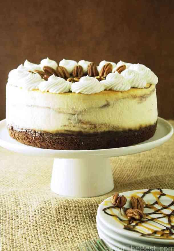 Chocolate Caramel Swirl Cheesecake Savor The Best