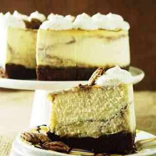 Chocolate Caramel Swirl Cheesecake