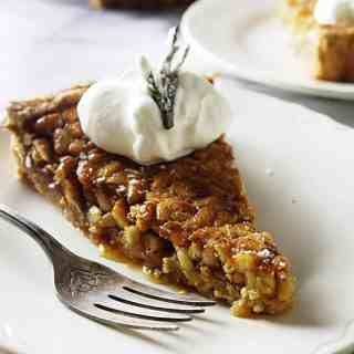 Rosemary pine nut tart