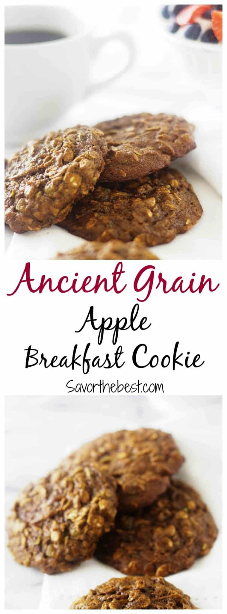 ancient grain apple breakfast cooke
