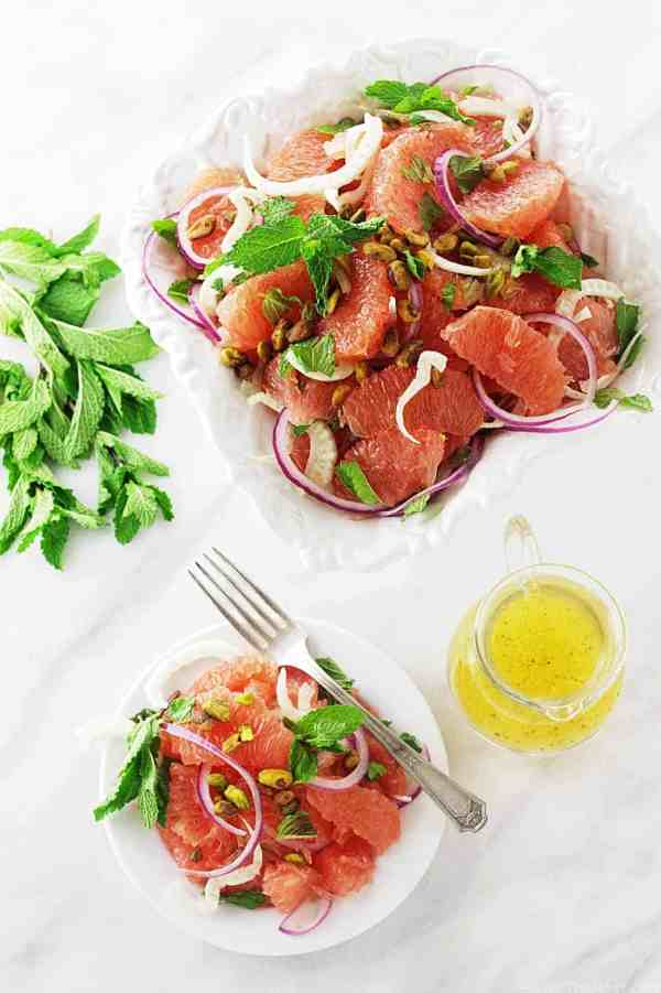 Grapefruit, Mint and Fennel Salad with Pistachios