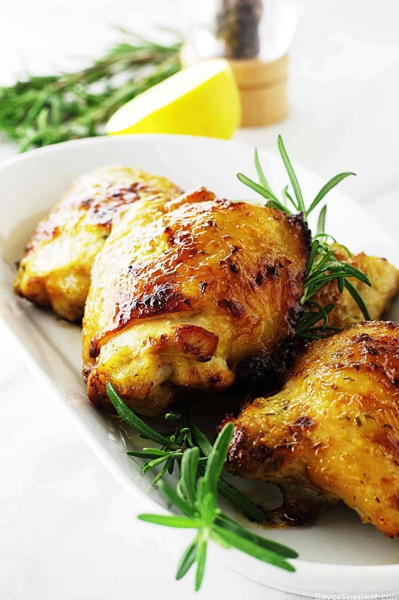 Herb And Honey Glazed Chicken Thighs Savor The Best