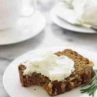 Sprouted Spelt Rosemary Walnut Bread