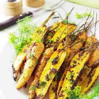 Mustard-Dill Roasted Carrots