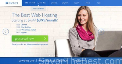 Bluehost page