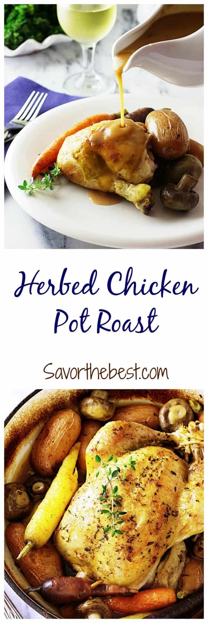 Pot Roasted Herb Chicken
