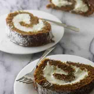 Einkorn Pumpkin Cake Roll