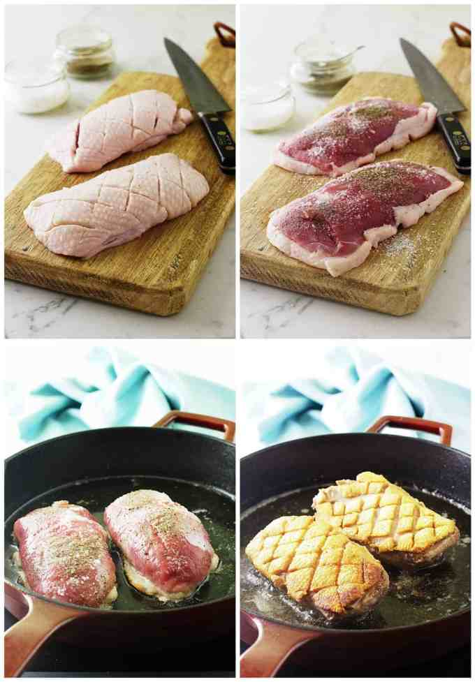 Roasted Duck Breast with Ginger-Rum Sauce