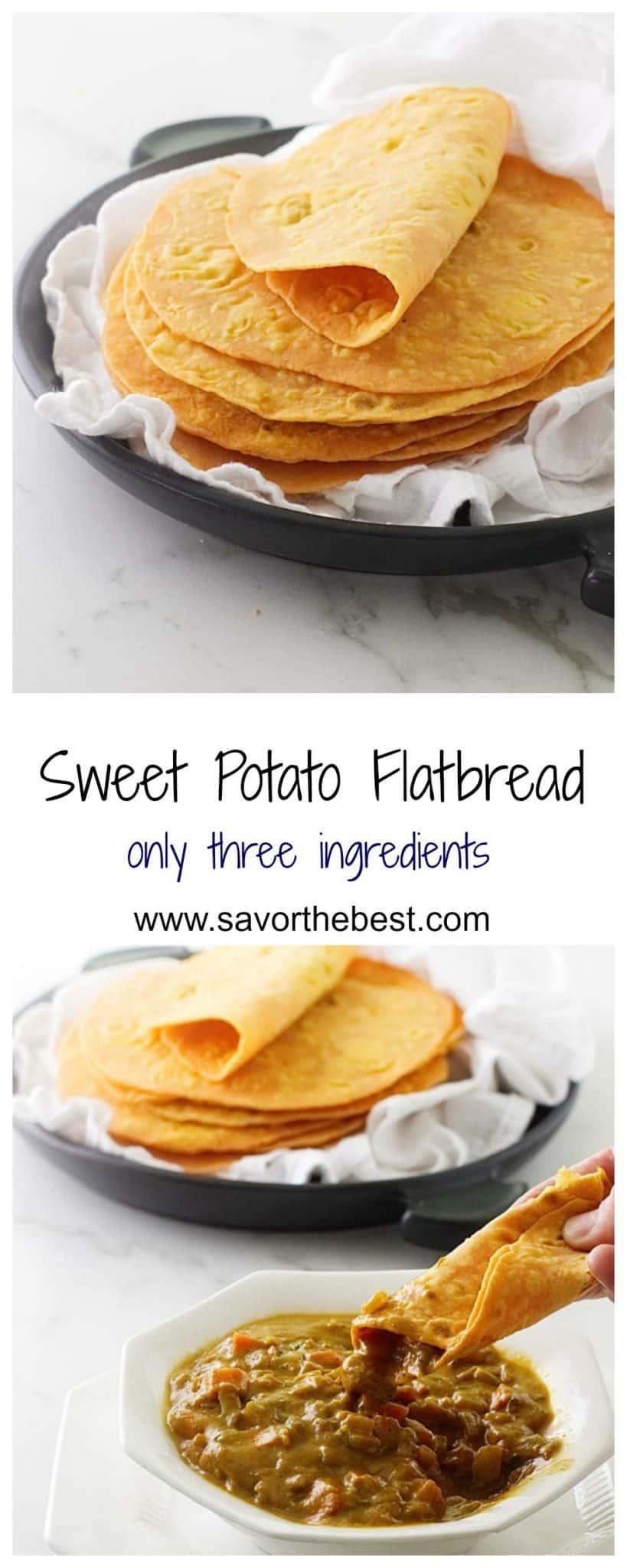 sweet potato flatbread