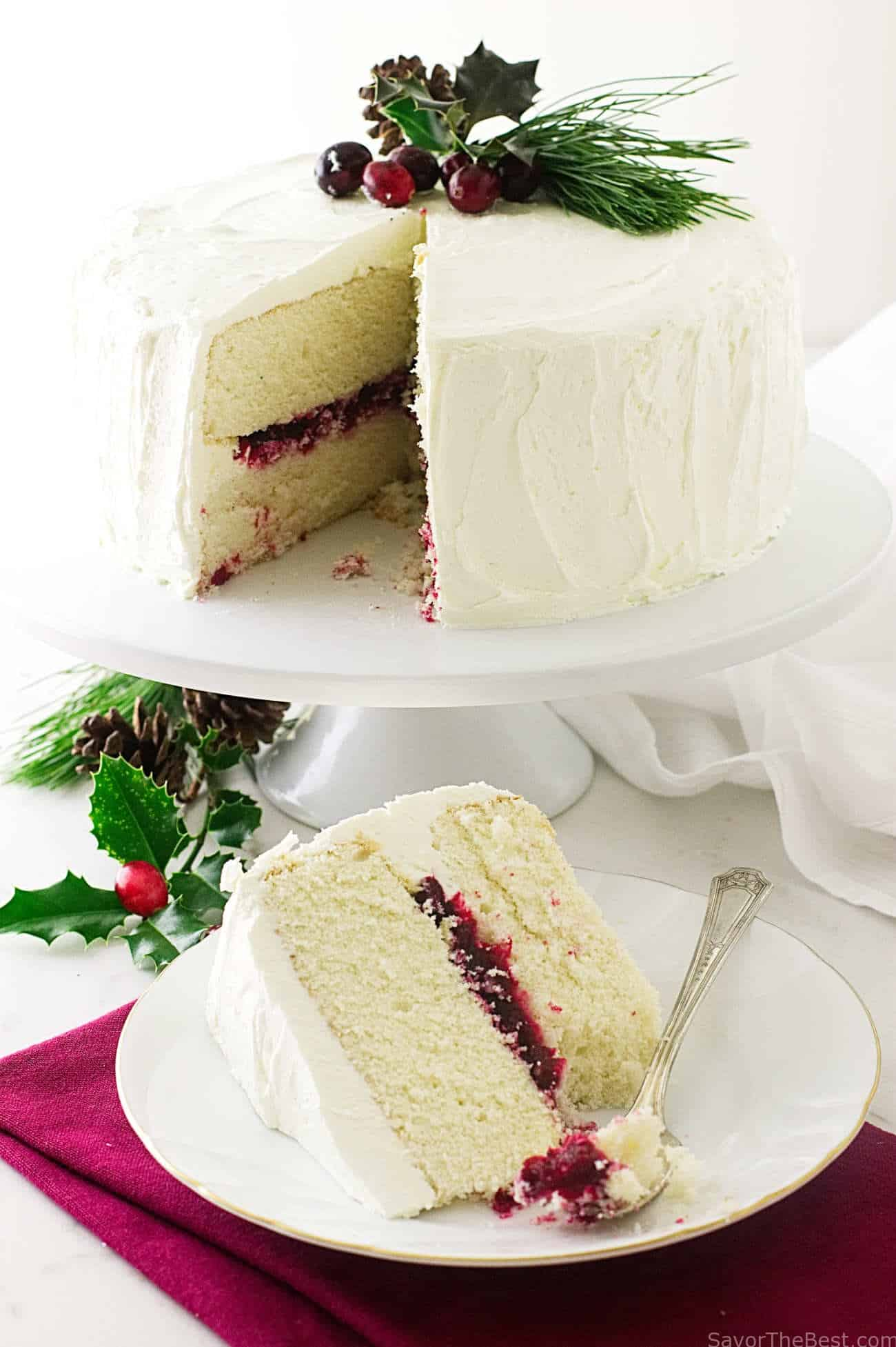 Christmas Cranberry Layer Cake Savor The Best