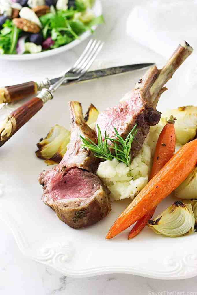 Garlic Rosemary Roasted Rack of Lamb