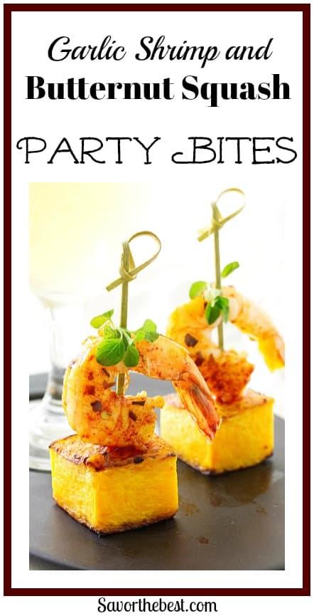 Garlic Shrimp and Butternut Party Bites