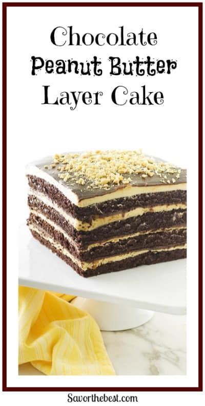 Chocolate Peanut Butter Layer Cake