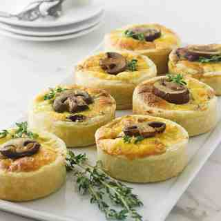 Mushroom Goat Cheese and Thyme Tartlettes