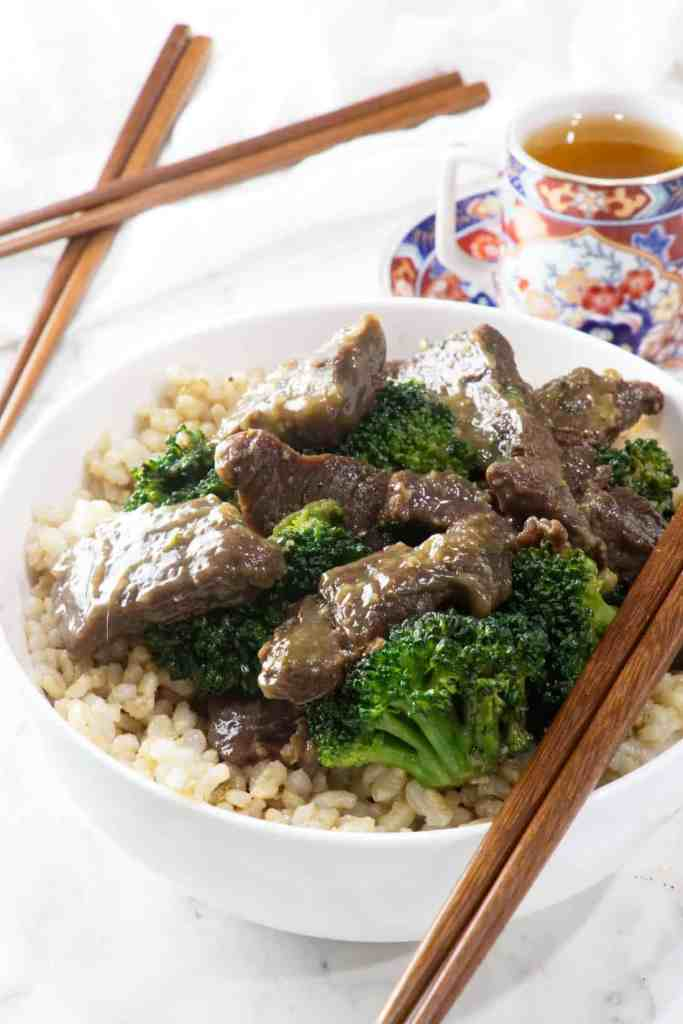 Venison and broccoli with oyster sauce