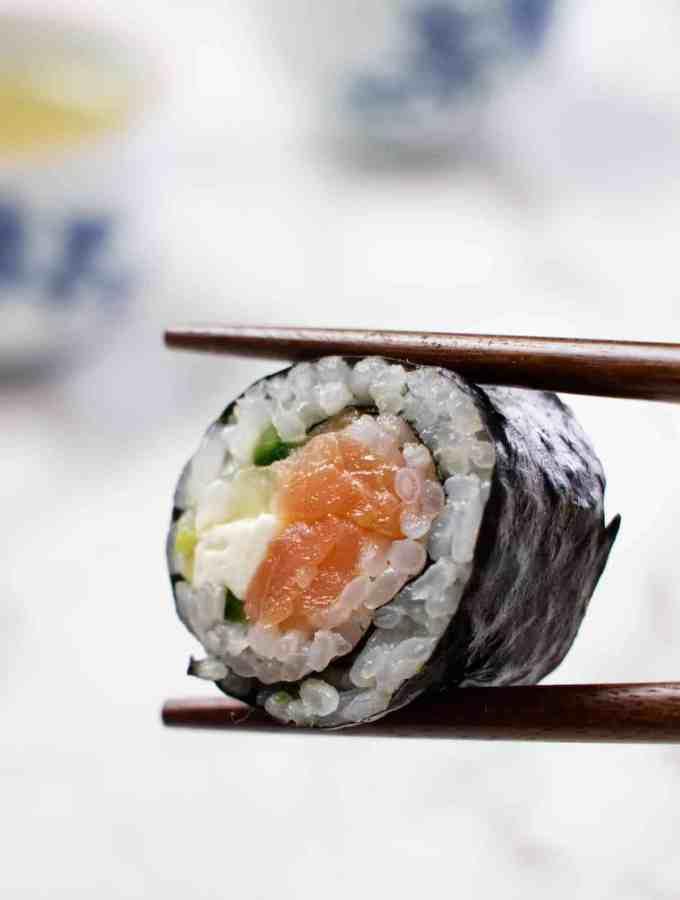 Smoked Salmon Philadelphia Rolls
