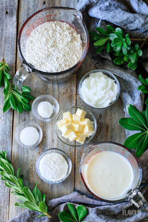 ingredients for buttermilk biscuits