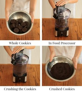 How to Make an Oreo Pie Crust: step-by-step photos illustrate this fun and easy recipe. | www.savortheflavour.com