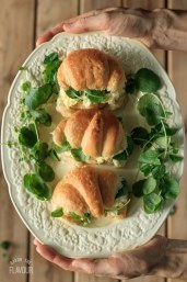 Classic Egg Salad Sandwich: an easy recipe for this simple, low carb salad served with a traditional English ingredient. | www.savortheflavour.com