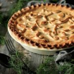 Creamy Chicken and Mushroom Pie: an easy recipe that combines leftover chicken with a flavorful gravy and flaky shortcrust pastry. It's sure to be the star of your next dinner. | www.savortheflavour.com #comfortfood #chickenpie #familypie #chickenrecipes #mushroom