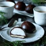 Chocolate Teacakes with Raspberry Jam