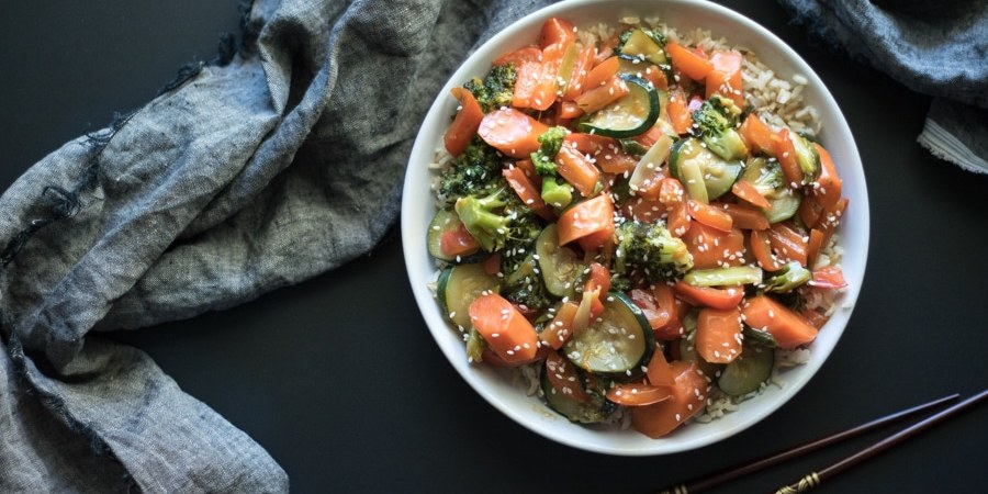 Orange vegetable stir fry savor the flavour orange vegetable stir fry a quick and easy vegetarian recipe thats low carb and bursting forumfinder Image collections