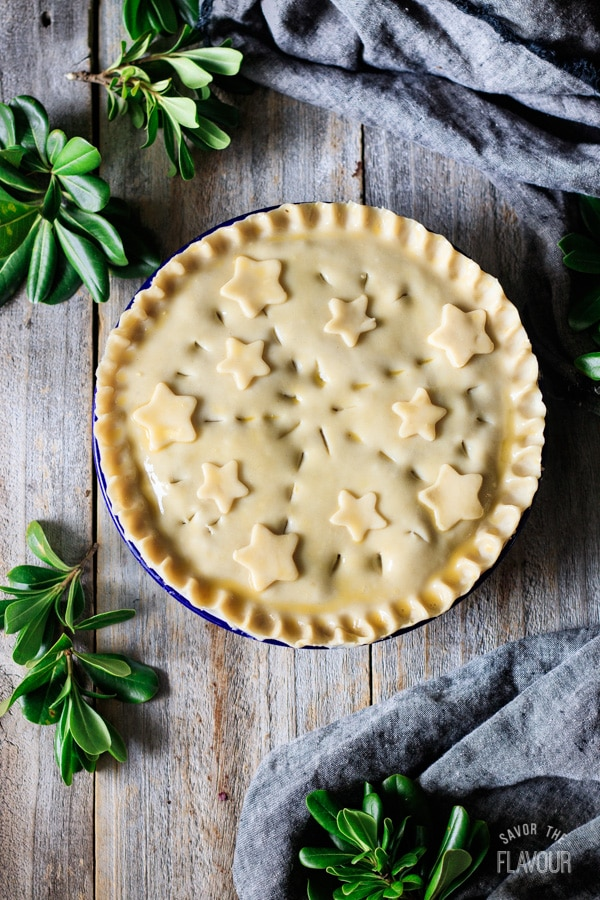 unbaked French Canadian meat pie