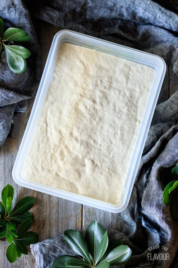 dough proving for ciabatta rolls