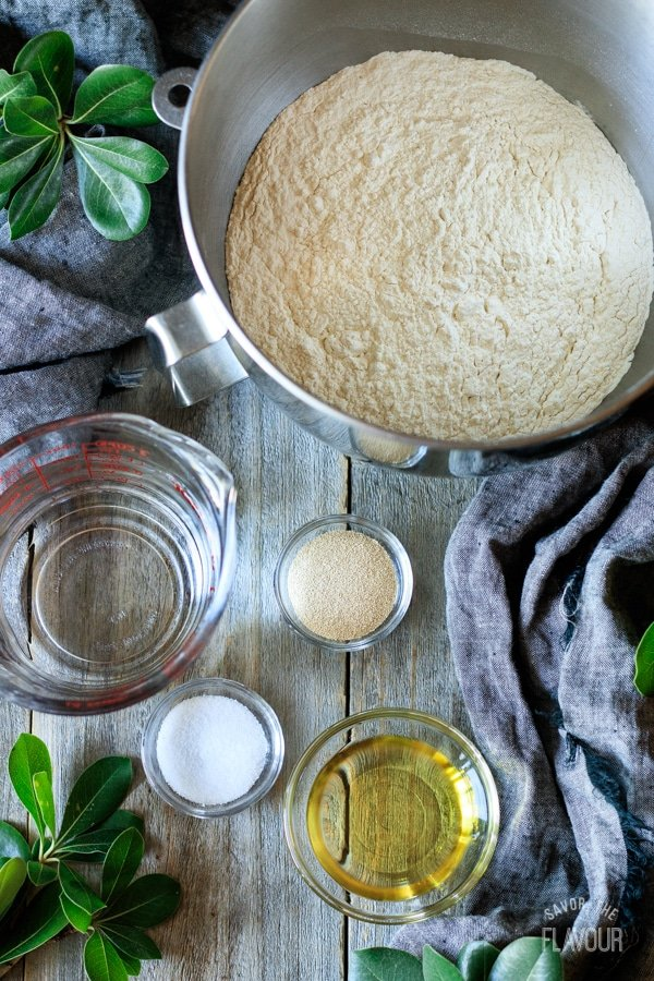 ingredients for ciabatta rolls