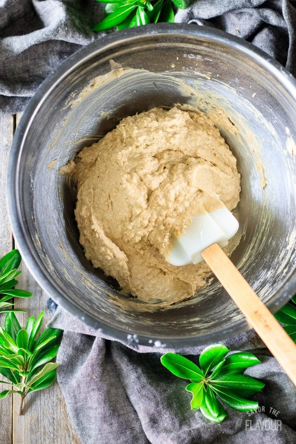 making plum pudding batter