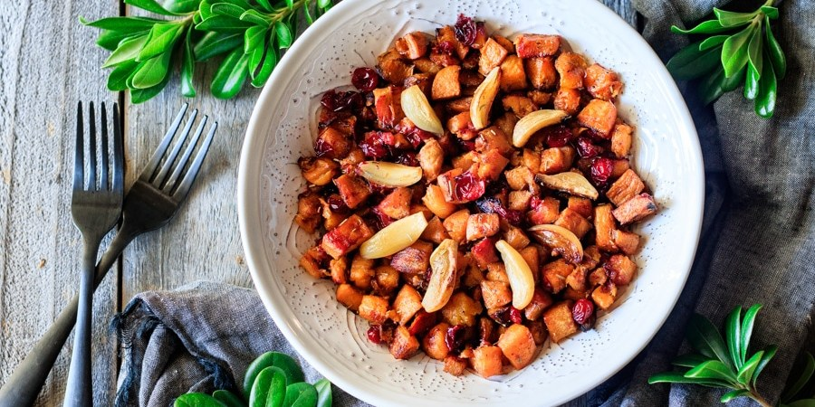 roasted sweet potatoes in a bowl