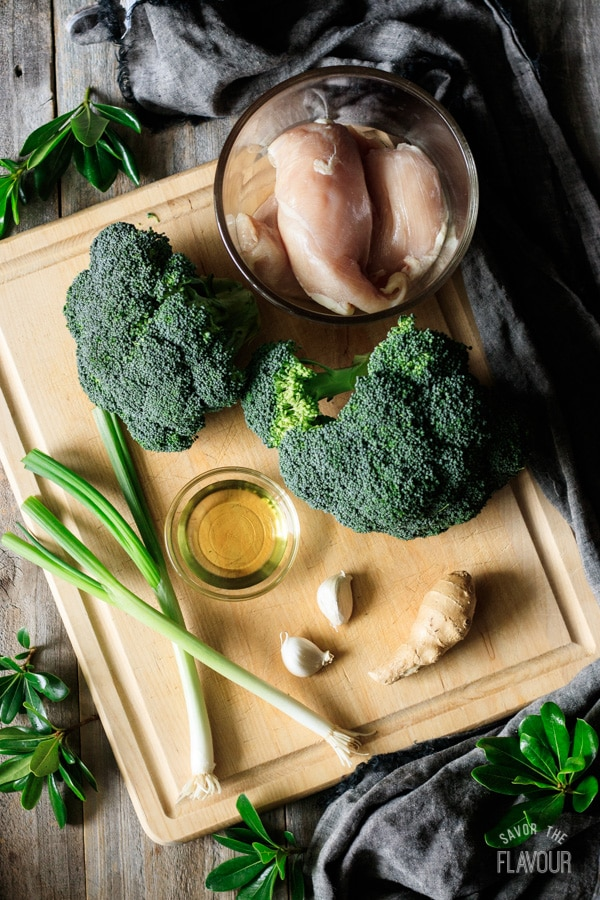 ingredients for chicken and broccoli stir fry