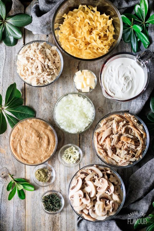 ingredients for turkey stroganoff