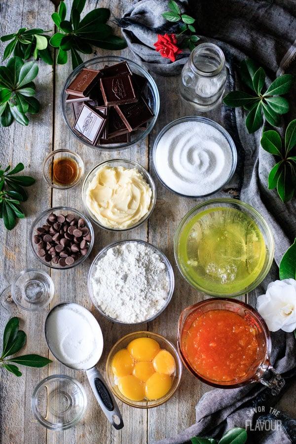 ingredients for sachertorte